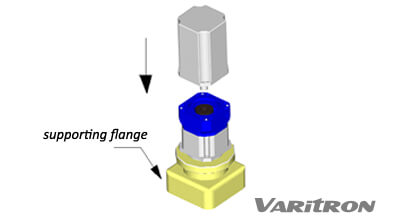 Install the servo motor vertically into the mouting side of planetary gearbox.
